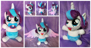 Princess Flurry Heart - Cuddle Baby Plushie by equinepalette