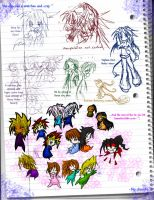 French Notebook sketches by blu-chocobo