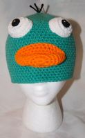 Perry the Platypus Beanie by rainbowdreamfactory