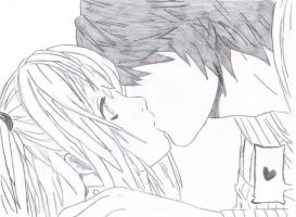 Raito and Misa Kiss by SweetIrrelevance