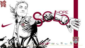 Hope Solo Nike London 2012 Goalkeeper by akyanyme