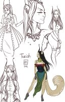 Sketch Page_Turiah by BlackBirdInk