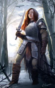 Redhead knight by mannequin-atelier