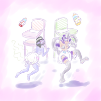 Hovering Handfuls-ABDL by RFSwitched