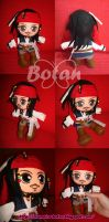 chibi Jack Sparrow plush version by Momoiro-Botan
