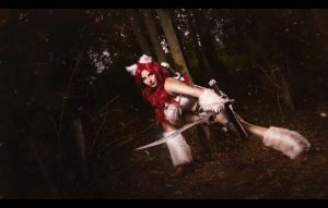 Kitty Cat Katarina League of Legends by Kastiell