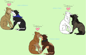 Wolf's Rain COUPLES by GingaGirl86