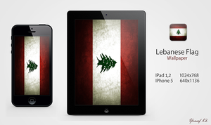Lebanese Flag Wallpaper by yousefcia