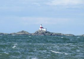 Choppy seas at the Skerries by mad1dave