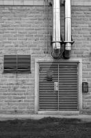 Door with Pipes and Vents by SimonHS