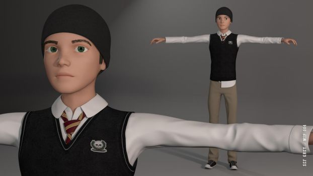 Sef Grey from Drakstone Academy WIP 004 by samcote