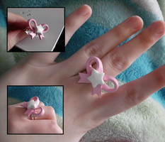 Sweet Lolita Star Bow Ring by UniqueTreats