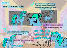 How to Use..... MLP Pony Base- GIMP Part 3 by TheYUO