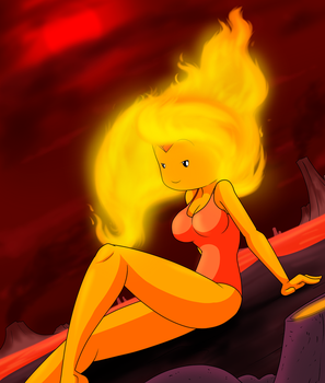 Girls of Summer: Flame princess heating it up by Sandwich-Anomaly