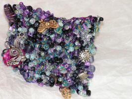 Dragons Lair - Hand Knitted Wire Bracelet by nightowl2704