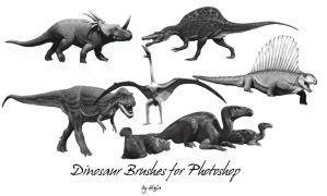 Dino Brushes by aswad-hajja