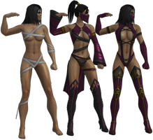 Mortal Kombat - Mileena pack XNAlara by MKiss333