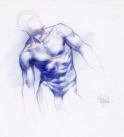 STUDY OF MALE TORSO by AbdonJRomero