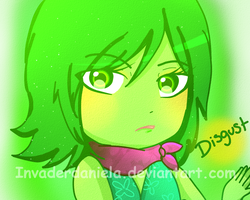 Disgust-inside out by Invaderdaniela