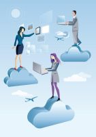 Cloud Computing Men And  and two Women by Jesussanz