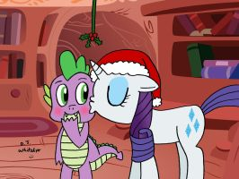 The Dragon and Pony Under the Mistletoe by DJgames