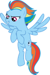 Rainbow Dash Night Glider by blah23z