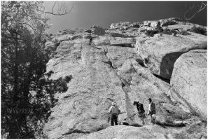 Climbing at Greyrock by wyorev