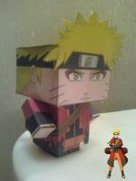Naruto Uzumaki Sage Mode Cubee Finished by rubenimus21