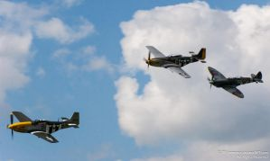 P-51 Mustangs and Spitfire by TPJerematic