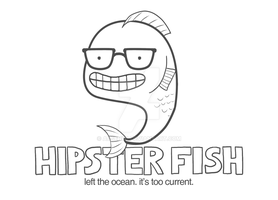 Hipster Fish by arseniic