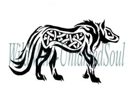 Tribal/Celtic Wolf Tattoo by WildMind-UntamedSoul