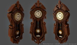 Lowpoly victorian clock by Nosslak