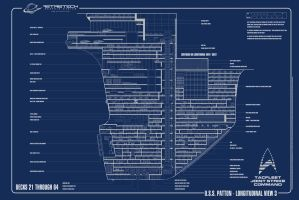 USS Patton-Longitudinal Plan 3 by astristech