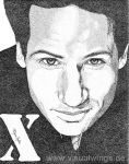 David Duchovny in dots by visualwings