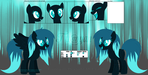 Cyannica [Official Ponysona Reference Sheet] by Twiinyan