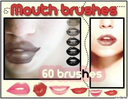 Mouth Brushes for Photoshop by blitherjust