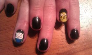 Adventure Time - Nail Art by DignifiedDoll