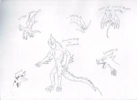 Ultraman Drago Sketches by Dragonsmana