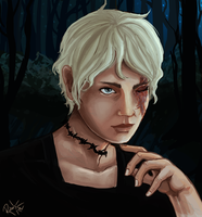 Commission Portrait -  Lady_Ourania by LittleBird-Arts