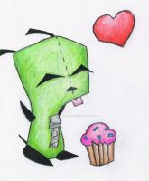 Gir Loves Cupcakes by CourtneyElizaDiena