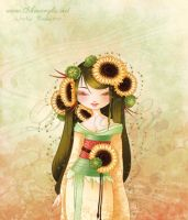 Geisha Tournesol by Nailyce