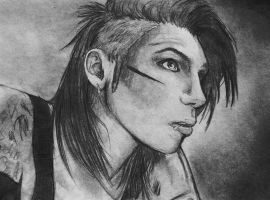 Andy Biersack- Lead Singer of BVB by honeycat007