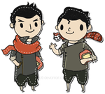 Mako and Bolin Patches by ditto9