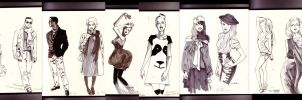 fashion sketches by MissMatzenbatzen