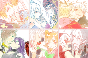 OTPs Kissus t/////t by Pokey-Chan