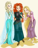Queen and princesses by m-roa