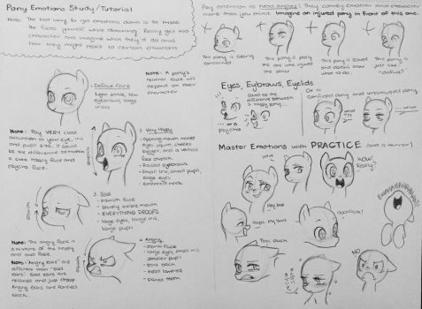 Pony Emotions Tips/Study/Tutorial by kilalaaa