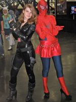 Black Widow and Spider-Girl by Urvy1A