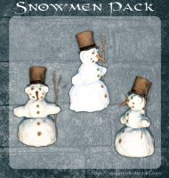 3D Snowmen Pack by zememz