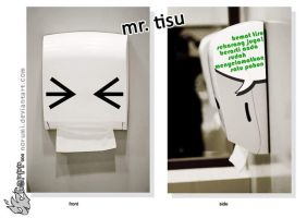 Mr. Tissues say please save by norumi